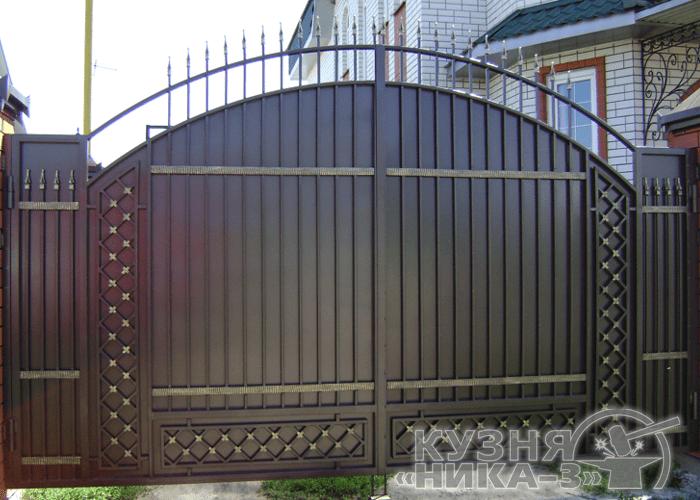 металлические кованые ворота и калитка на заказ в Тамбове