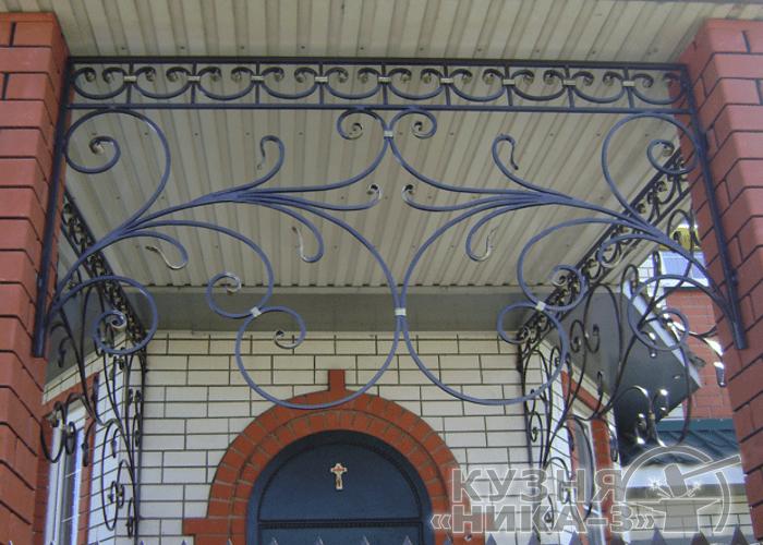 металлические кованые козырьки в Тамбове